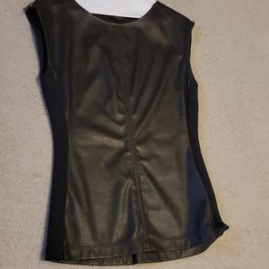 Bcbg Maxazria faux leather top with tag. Never wor